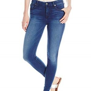 7 For All Mankind Dark Blue Ankle Gwenevere Jeans